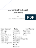Elements of Technical Documents