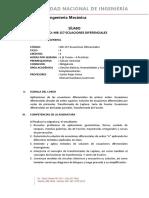 MB157 - SILABO 2019-2 Ecuaciones Dif