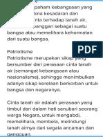 Beda Nasionalisme & Patriotisme