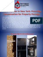 Public Adjuster in New York Providing Compensation for Property Damage