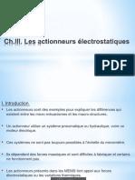 ChIII. Actionneurs Électrostatiques