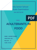 Chemistry Adulterants in Food