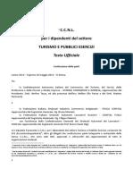 CCNL TURISMO e PUBBLICI ESERCIZI Integrato Dal Verbale Di Accorso Di Allineamento Contrattuale, Modificativo e Integrativo
