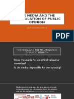 The Media and the Manipulation of Public Opinion