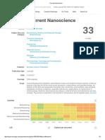 Current Nanoscience SCI