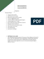Service Marketing Kushi Notes