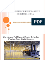 Warehouse Fulfillment Center in India
