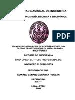 ATENUACIÓN DE PERTURBACIONES CON FILTROS