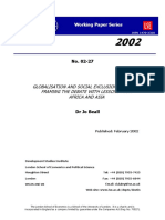 Globalization and Social Exclusion WP27