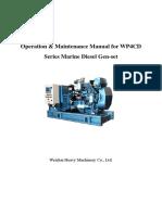 Operation Manual for WP4CD Series Marine Diesel Gen-set