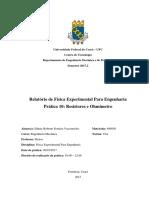 Relatório Física Experimental Resistores