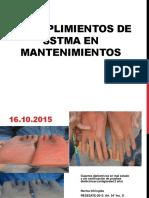 Incumplimientos de SSTMA en Mantenimientos