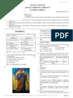 X board sample paper