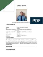 Curriculum Vitae Llanos Peralta Jorge