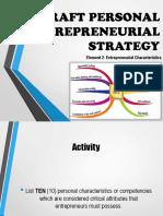 Element 2 - Entrepreneurial Characteristics