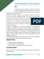 monografía diseño de investigación