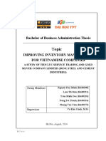 Improving Inventory Management for Vietnamese Companies a Study of Tien Luc Service Trading and Gold Silver Company Limited