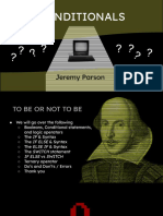 To Be or Not to Be _ the Power of Conditionals Presentation