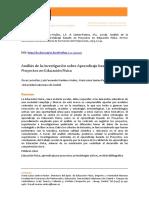 Analisis de La Investigación Sobre Aprendizaje Basado en Proyectos en Ed. Fisica. - Oscar Leon Diaz
