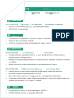 Green Color Resume-WPS Office
