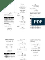 Formulas Estadística Inferencial