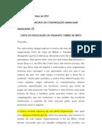 2013 0518 Osmanito Torres Araguiana, Desassociação