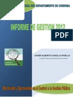 Informe de Gestion Vigencia 2012 Final