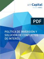 politica de inversion AFP