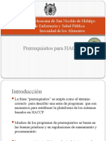 Prerrequisitos HACCP