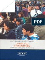 Mendo Romero Jose Curriculo Universitario