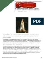 Ato de Consagração Ao Imaculado Coração de Maria - Para Os Religiosos e Fiéis Que Aderiram Ao Movimento Sacerdotal Mariano - O Imaculado Triunfará - O Imaculado Triunfará
