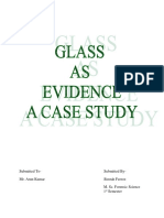 Glass as Evidence- Case Study