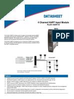 ProSoft 4 Channel HART Input Module PLX51-HART-4I