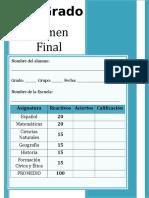 6to Grado - Examen Final (2013-2014)