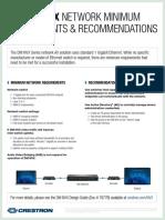 Dm Nvx Network Min Requirements