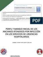 PERFIL Y MANEJO INICIAL DE ANCIANOS ATENDIDOS POR INFECCIÓNEN SUH.pptx