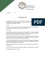 Informe Tecnico Del Curso Defensa Personal Aplicado a Proteccion de Personal