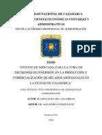 Tesis Presentacion Final, Estudio de Mercado Para La Toma de Desiciones de Inversion