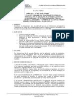 Directiva Trabajo de Investigacion Facea