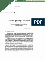 Soberania Obediencia Y Salus Populi En Thomas Hobbes