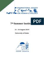 2019 Summer Institute Programme 1 1