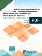 O Desenvolvimento do Pensamento Algébrico na Educação Básica