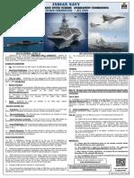 Notification Indian Navy 102 B Tech Cadre Entry Scheme
