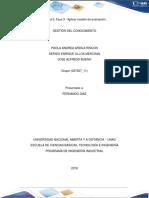 Unidad 3 Fase 3 Aplicar Modelo de Evaluación