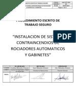 PETS Instalacion de Sistema Contraincendio - Sept
