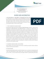 Aviso Acionistas_Capitalização Vfinal (08.08)