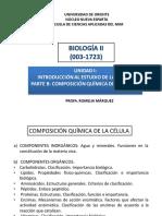 Unidad i (b) Composición Química de La Célula