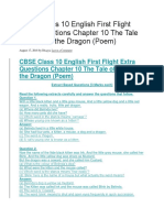 CBSE Class 10 English First Flight Extra Questions Chapter 10 The Tale of Custard the Dragon.docx