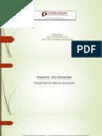 Principio Pro Personae Presupuestos Para Su Aplicacic3b3n
