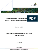 Guidelines on the Sediment Connectivity ArcGIS Toolbox and Stand-Alone Application